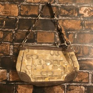 Coach Suede Optic Brown/Gold Purse